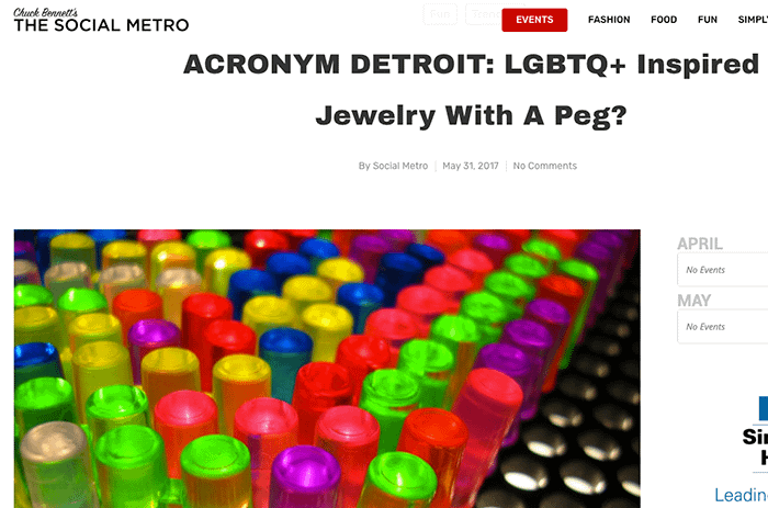THE SOCIAL METRO: LGBTQ+ JEWELRY WITH A PEG